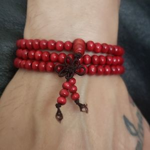 Other - NWT Men's Bright Red Mala Prayer Bead Bracelet